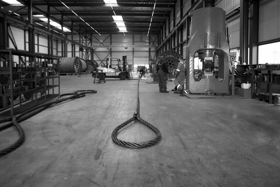 Eindverbinding lus staalkabel