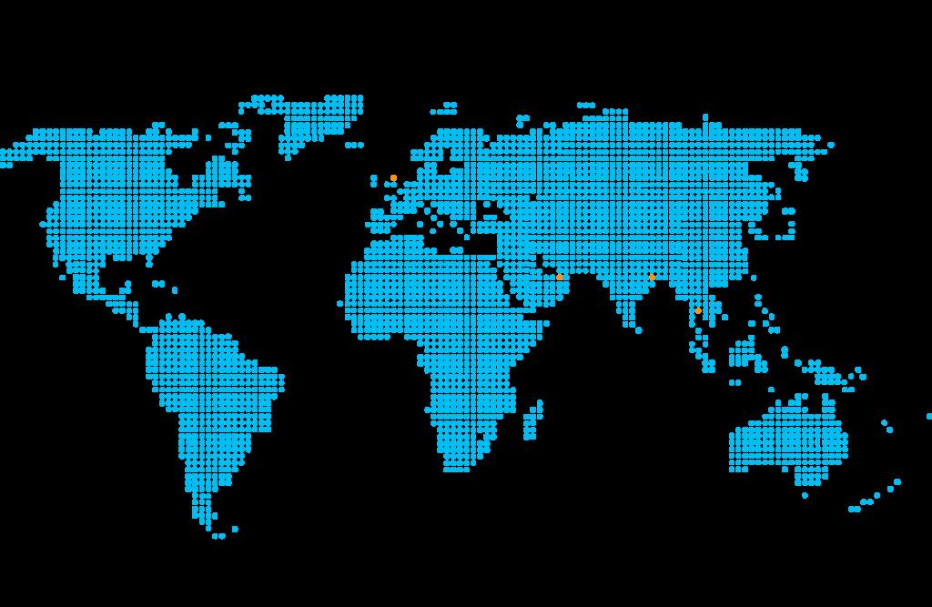 De Ruiter Staalkabel - Wereldkaart blauw